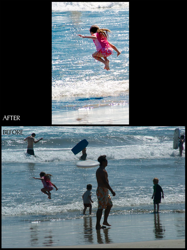 crop and enhance photo retouch